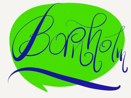 Lettering des Wortes Bornholm. Lettering und Foto: Janne Klöpper