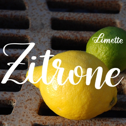 Lettering der Worte Zitrone und Limette mit dem Zeichenprogramm Procreate. Zeichnung und Foto: Janne Klöpper
