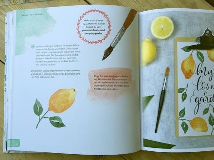 Seiten 60 und 61 des Buchs Handlettering Watercolor von Sue Hiepler und Yasmin Reddig. Frechverlag 2017. Foto: Janne Klöpper