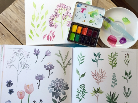 Seiten 88 und 89 des Buchs Handlettering Watercolor von Sue Hiepler und Yasmin Reddig. Frechverlag 2017. Foto: Janne Klöpper