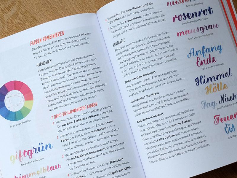 Chris Campe, Praxisbuch Brush Lettering, Seite 154 und 155. mitp-Verlag 2018. Foto: Janne Klöpper