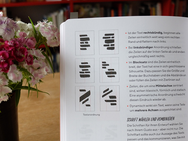 Chris Campe, Praxisbuch Brush Lettering, Seite 192. mitp-Verlag 2018. Foto: Janne Klöpper
